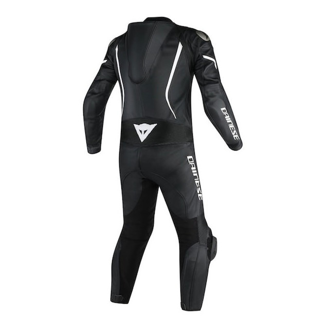 TUTA DAINESE ASSEN 1 PC PERF. SUIT BLACK WHITE - RETRO