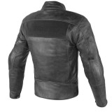 GIACCA DAINESE STRIPES D1 LEATHER BLACK - RETRO