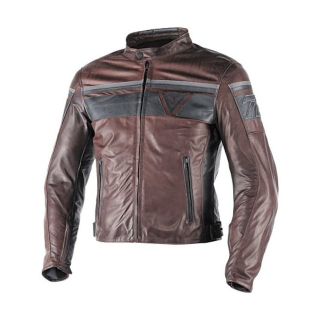 DAINESE BLACKJACK LEATHER JACKET - DARK BROWN BLACK