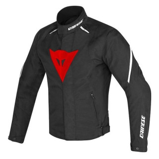 DAINESE LAGUNA SECA D1 D-DRY JACKET - BLACK RED WHITE