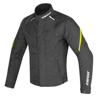 DAINESE LAGUNA SECA D1 D-DRY JACKET - BLACK YELLOW FLUO