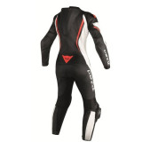 DAINESE ASSEN 1 PC PERF. LADY SUIT BLACK WHITE RED FLUO - RETRO