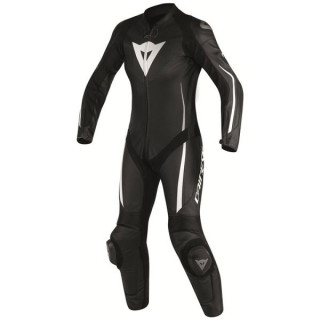 DAINESE ASSEN 1 PC PERF. LADY SUIT - BLACK WHITE