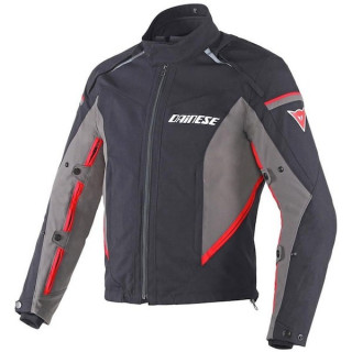 DAINESE RAINSUN JACKET - BLACK DARK GULL GREY RED