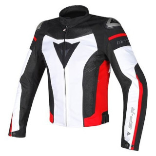 DAINESE SUPER SPEED TEX JACKET - WHITE BLACK RED