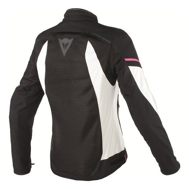GIACCA DAINESE AIR FRAME D1 LADY TEX BLACK VAPOROUS GRAY FUXIA - RETRO