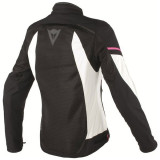 DAINESE AIR FRAME D1 LADY TEX JACKET BLACK VAPOROUS GRAY FUXIA - BACK