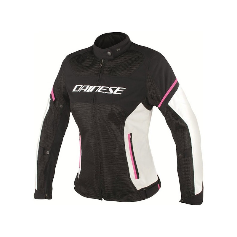GIACCA DAINESE AIR FRAME D1 LADY TEX - BLACK VAPOROUS GRAY FUXIA