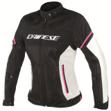 DAINESE AIR FRAME D1 LADY TEX JACKET - BLACK VAPOROUS GRAY FUXIA