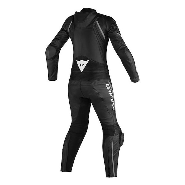 TUTA DAINESE AVRO D2 2 PCS LADY SUIT BLACK ANTHRACITE - RETRO