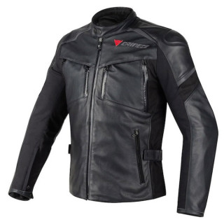 DAINESE CRUISER D-DRY LEATHER JACKET - BLACK