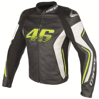 DAINESE VR46 D2 LEATHER JACKET- VR46