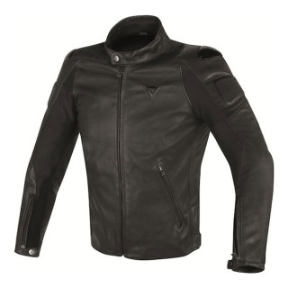GIACCA DAINESE STREET DARKER LEATHER JACKET - BLACK
