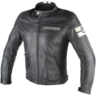 GIACCA DAINESE HF D1 LEATHER JACKET- BLACK ICE