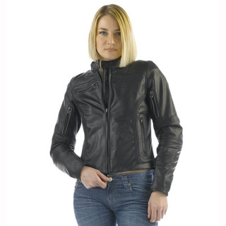 GIACCA DAINESE NIKITA LADY LEATHER JACKET - BLACK