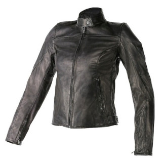 GIACCA DAINESE MIKE LADY LEATHER JACKET - BLACK