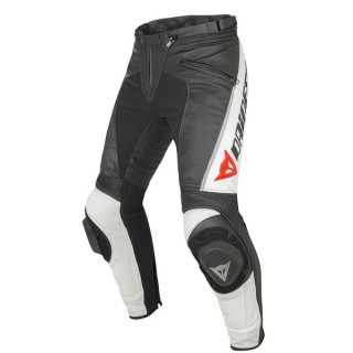 DAINESE DELTA PRO C2 PERF LEATHER PANT - BLACK WHITE