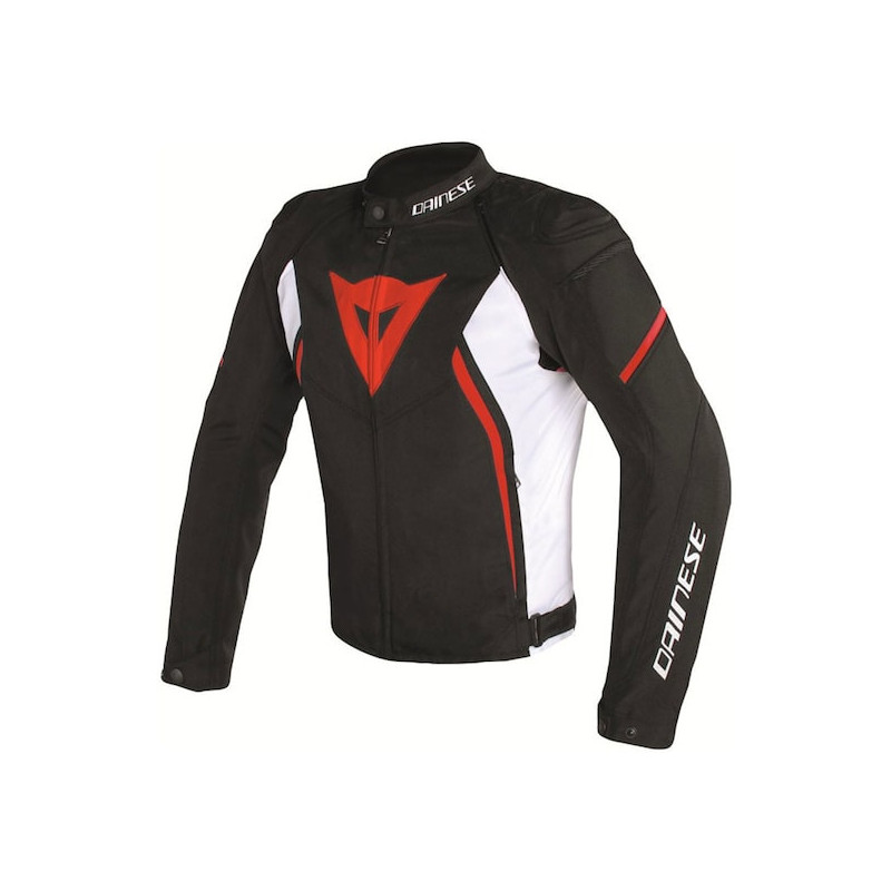 GIACCA DAINESE AVRO D2 TEX JACKET - BLACK WHITE RED