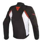 GIACCA DAINESE AVRO D2 TEX JACKET BLACK WHITE RED - RETRO