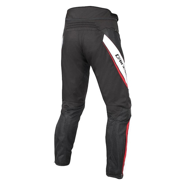 PANTALONI DAINESE DRAKE AIR D-DRY PANTS BLACK WHITE RED - RETRO