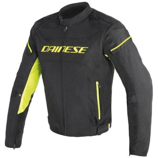 DAINESE D-FRAME TEX JACKET - BLACK FLUO YELLOW
