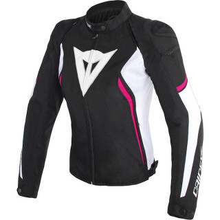 DAINESE AVRO D2 TEX LADY JACKET - BLACK WHITE FUCHSIA