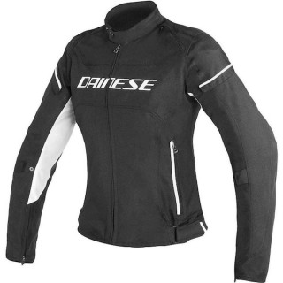 DAINESE D-FRAME LADY TEX JACKET - BLACK WHITE